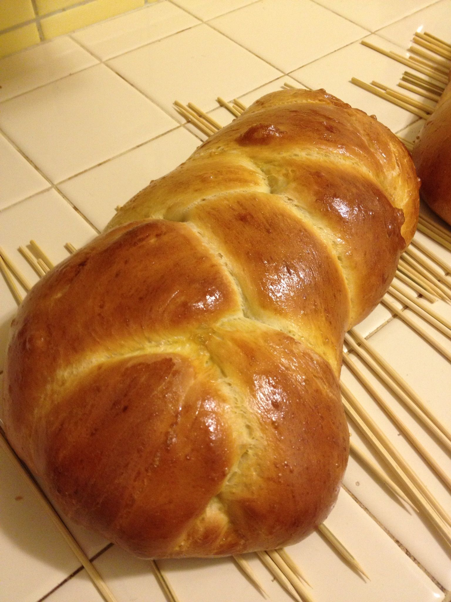 Challah bread!  This is the loaf I made, here is a link to the recipe!  http://allrecipes.com/recipe/sys-challah/detail.aspx?event8=1=SR_Title=challah=Quick%20Search=1