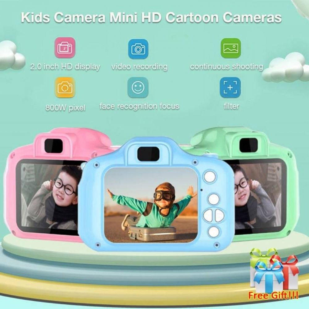 Digital DV Children Camera with 1080P HD 32G Memory Card 2.4inch HD Screen Rechargeable 12MP Kids Toy Camera as Birthday Present for2 3 4 5 6 7 Years Old Boys /& Girls Kids Camera