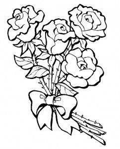 Dibujos De Ramos De Flores Para Colorear E Imprimir Dibujos Flores Para Colorear Dibujo De Rosas Plantillas Para Bordar