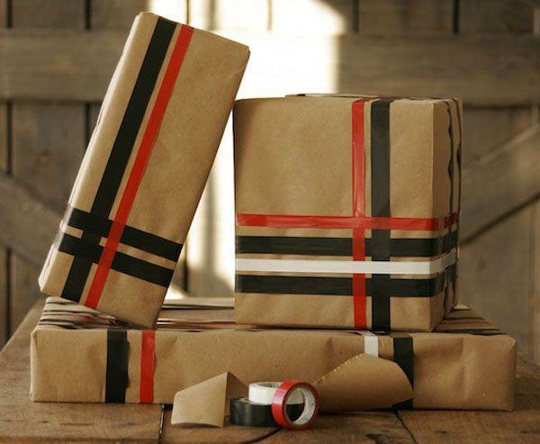Envolver regalos de forma original reciclando Navidad Pinterest