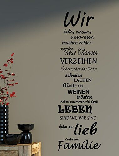 wandtattoo spruch familie family wir haus liebe spr che spruch b387 schwarz texte. Black Bedroom Furniture Sets. Home Design Ideas