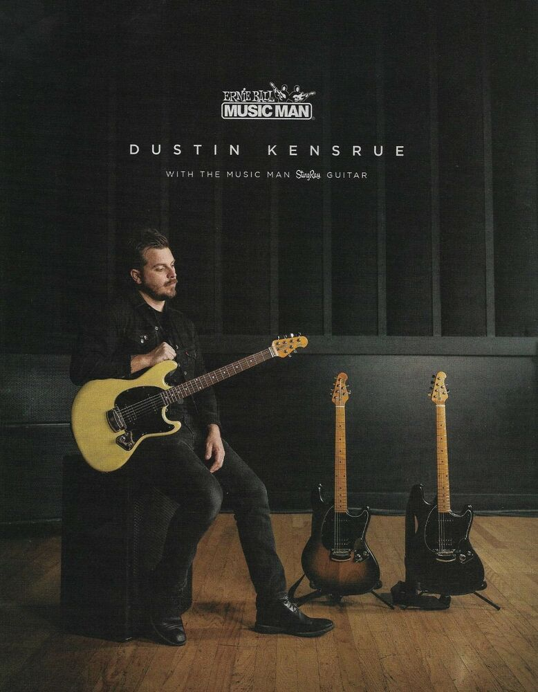 Trice Dustin Kensrue Ernie Ball Music Man Stingray Guitar 8 X 11 Ad Print Erniebal Guitar Playing Guitar Guitar Photography