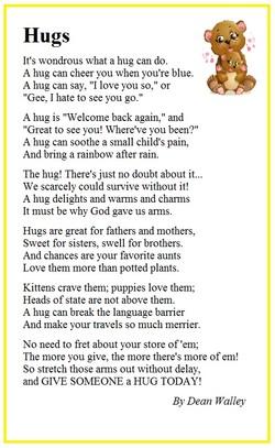 Pin by Smileejc on hugs | Hug, Poems, Bear hug