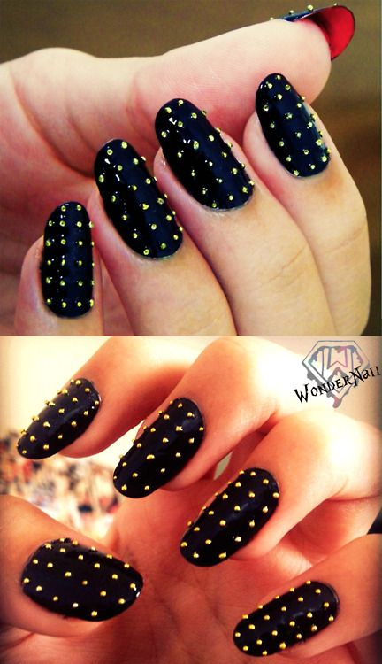 Must. Try. I love Louboutin nails.   Nails   Pinterest   Stud nails ...
