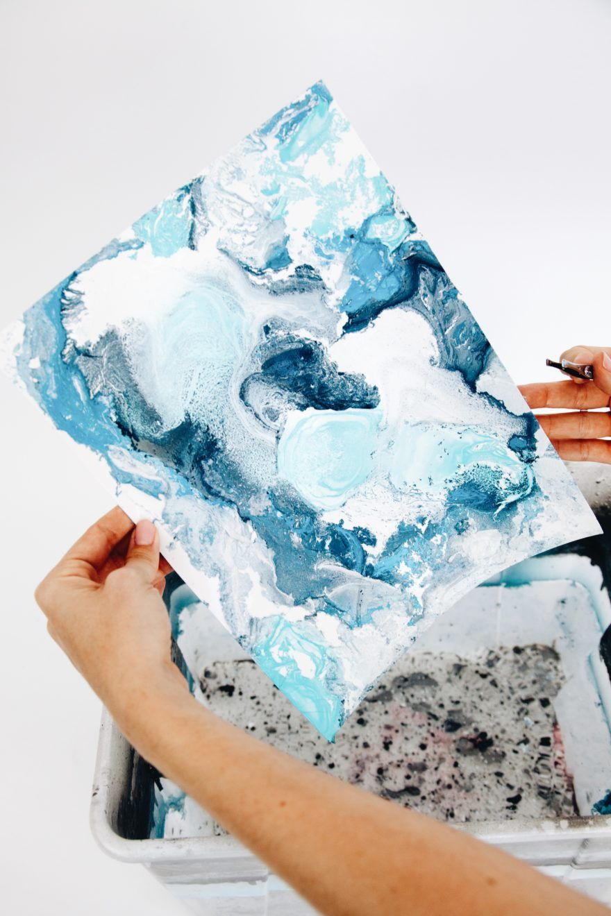 How To Make Water Marble Art Prints – Makeful