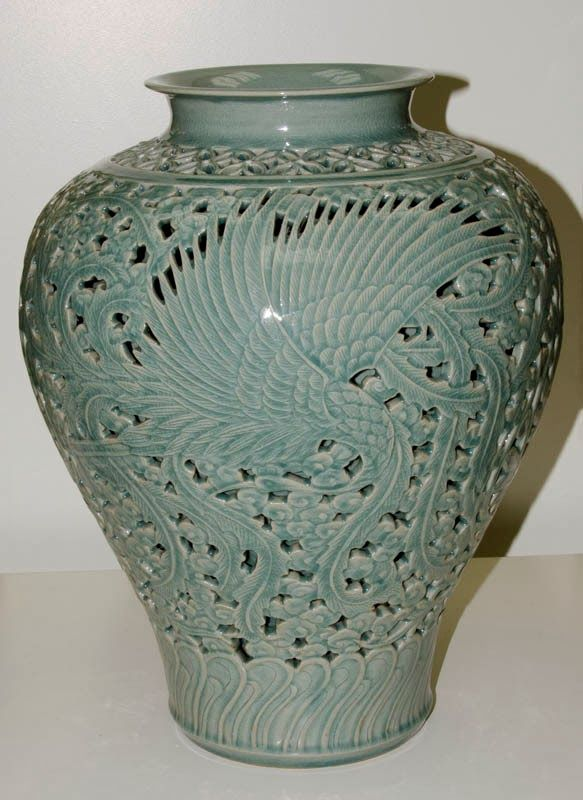 Icheon Ceramic Large Celadon Jar Mr Choi In Gyu R800