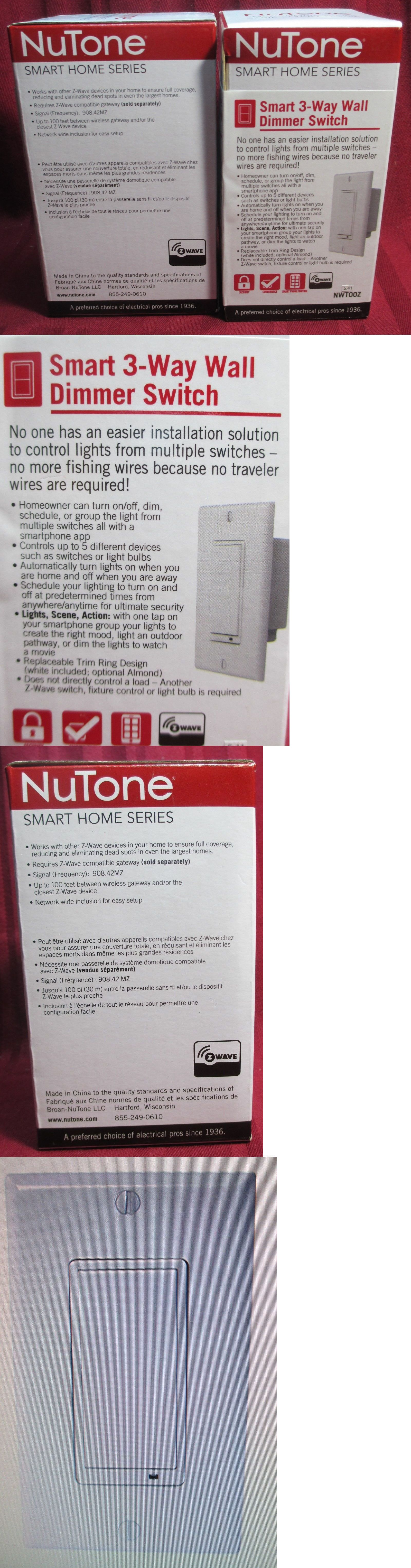NuTone NWT00Z Smart Z-Wave Enabled 3-Way Wall Dimmer Switch White