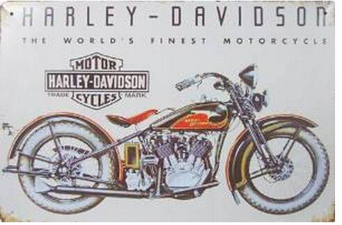 Harley Davidson The Worlds Finest Motorcycle Metal Tin Sign Vintage Style Wall Ornament Coff Old Harley Davidson Harley Davidson Museum Harley Davidson Images