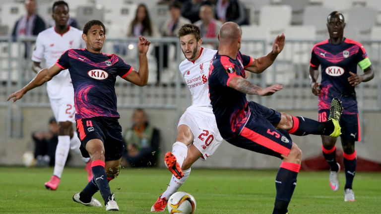 Sept. 17th. 2015: in the Europa league, Adam Lallana gave Liverpool the lead against Bordeaux but the Reds could not hold on and the game ended 1-1