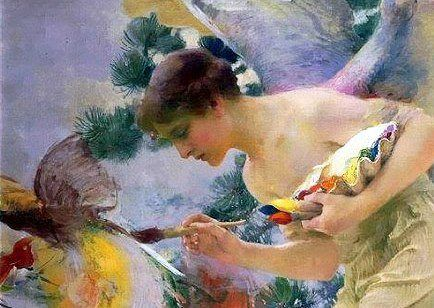 Painting the Birds ~ Franz Dvorak