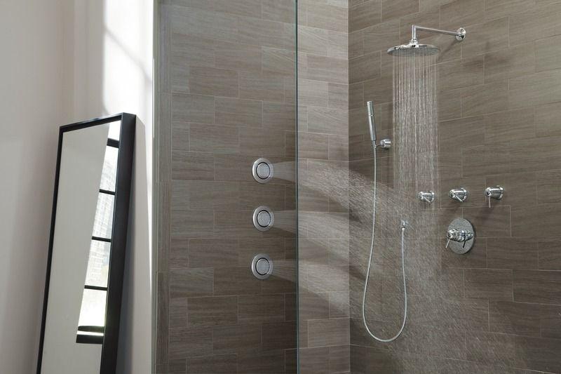 Arris chrome positemp shower only modern shower tub