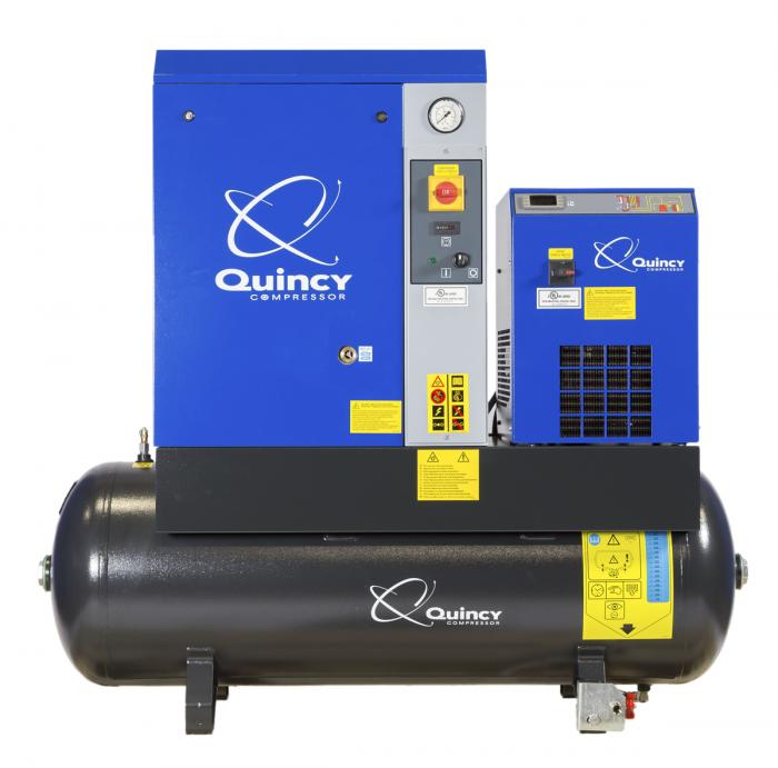Quincy QGS 5 HPD 5 HP Rotary Screw Air Compressor 60