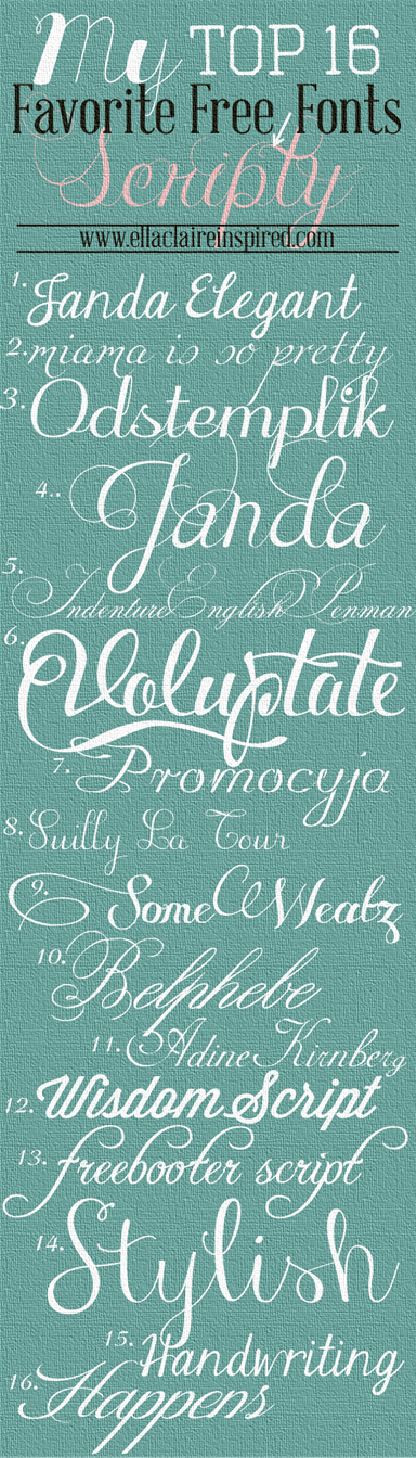 My top 16 favorite free scripty fonts fonts calligraphy Best calligraphy fonts free