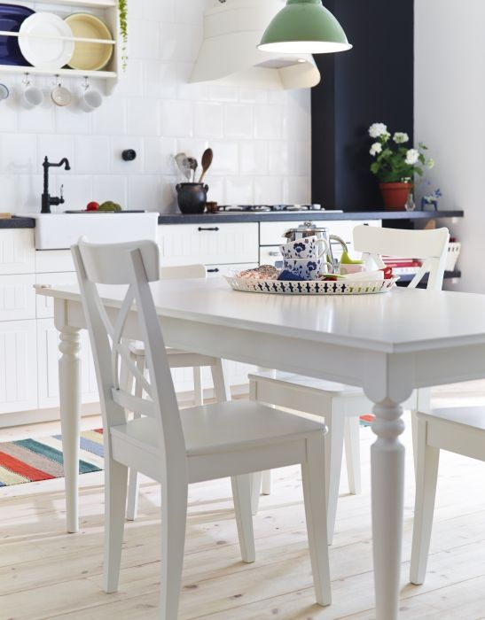 Ikea Fan Favorite Ingatorp Ingolf Table Fans Love This Extendable Dining Because The Legs Remain At Each End Of When Extended
