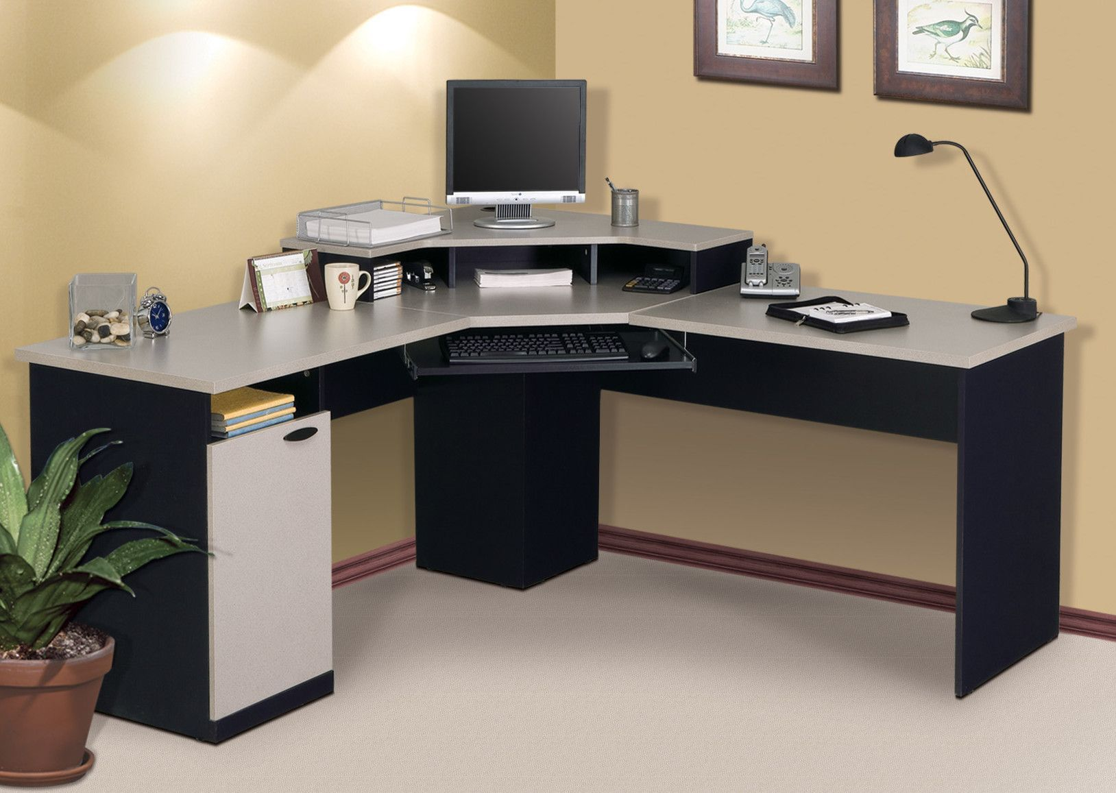 Incredible Hampton L Shape Executive Desk Products In 2019 Computer Home Interior And Landscaping Transignezvosmurscom