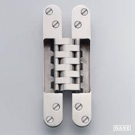 Concealed harmon hinge door window screen hardware for 180 degree swing door