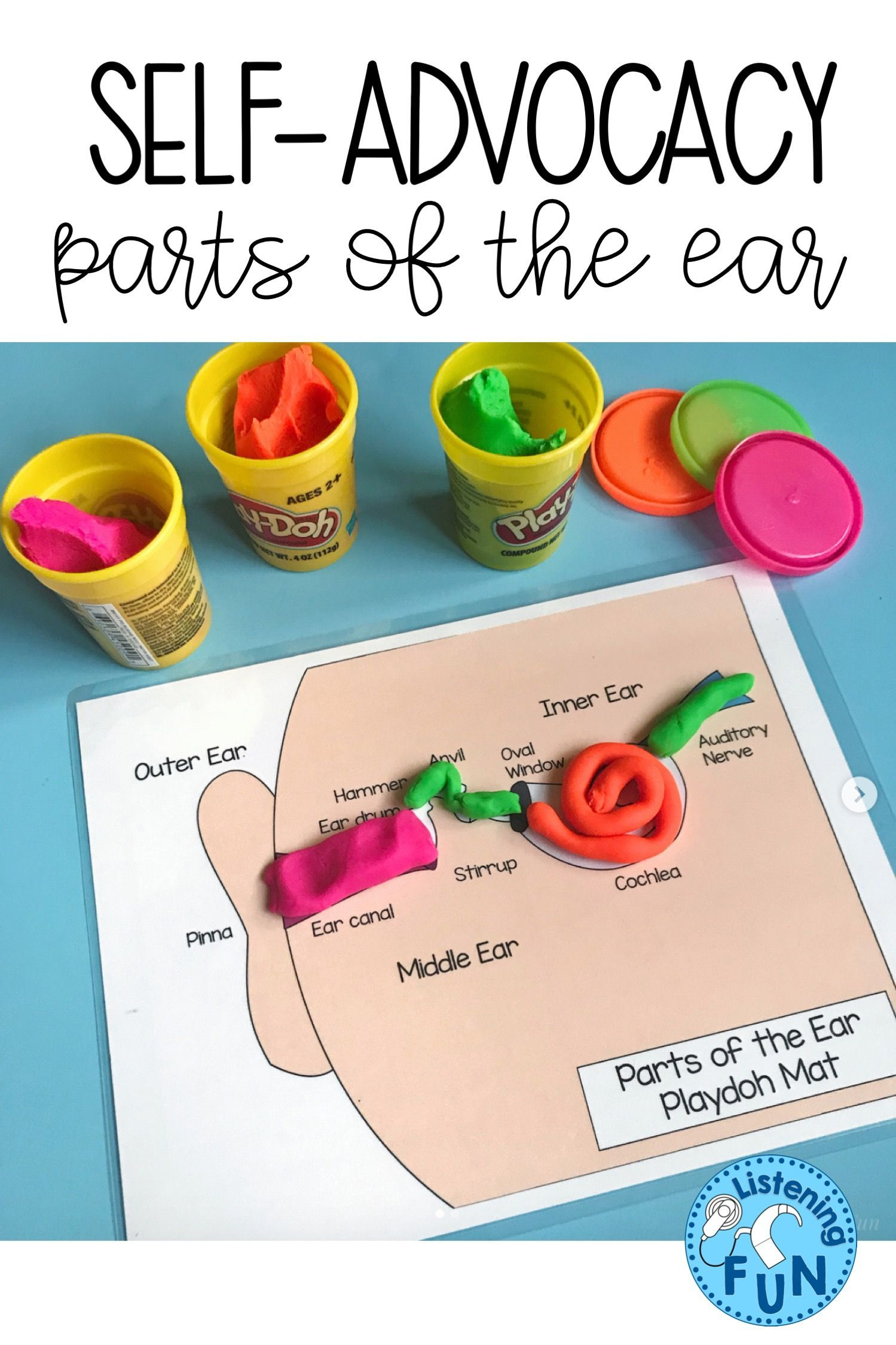 Parts Of The Ear Self Advocacy Activities For Dhh