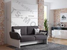 Schrankbett/Wandbett/Klappbett- Sofa WBS 1 Soft - 160 x 200 cm ...