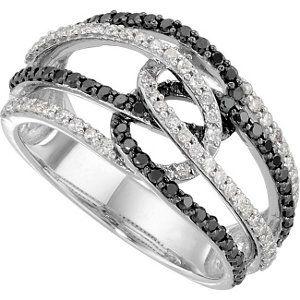 14kw Black White Diamond Ring Visit Www Stuller Com L To Find Your Nearest Retailer Black White Diamond Ring Black Diamond Jewelry Diamond Fashion