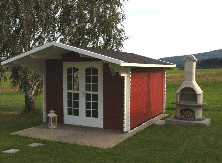 Gartenhaus streichen schwedenrot  Oh lá lá: Das Pultdach und der schwedenrote Farbanstrich des ...