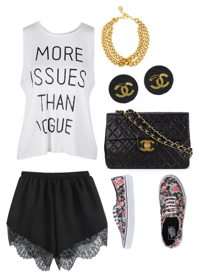 """Shoppin with BFF"" by queenbeautyguru ❤ liked on Polyvore featuring Vans, Ben-Amun and Chanel"