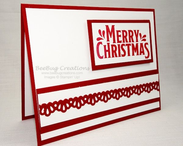 Christmas in July Card Sketch Layout Cards, Merry Mistletoe