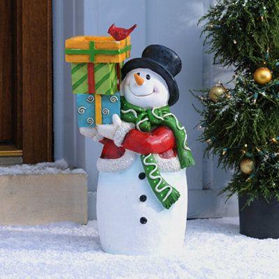 Frosty Snowman Bird Feeder Christmas Pinterest Bird feeder - outdoor snowman christmas decorations