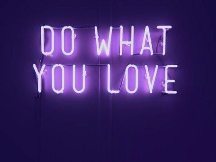 motivational quote, do what you love, purple light up quote, inspirational quote #usquotes