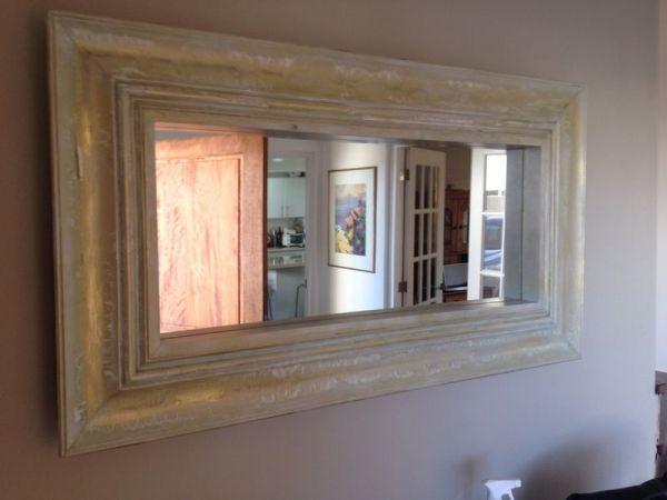 Espejo de moldura de madera de aprox 10 cm de ancho for Espejos color plata