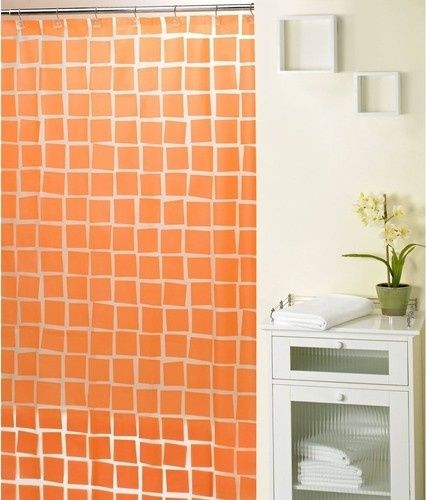 Adorable Orange Shower Curtains And  Best Blackwhitegray Shower Curtains Images On Home Decor  Is