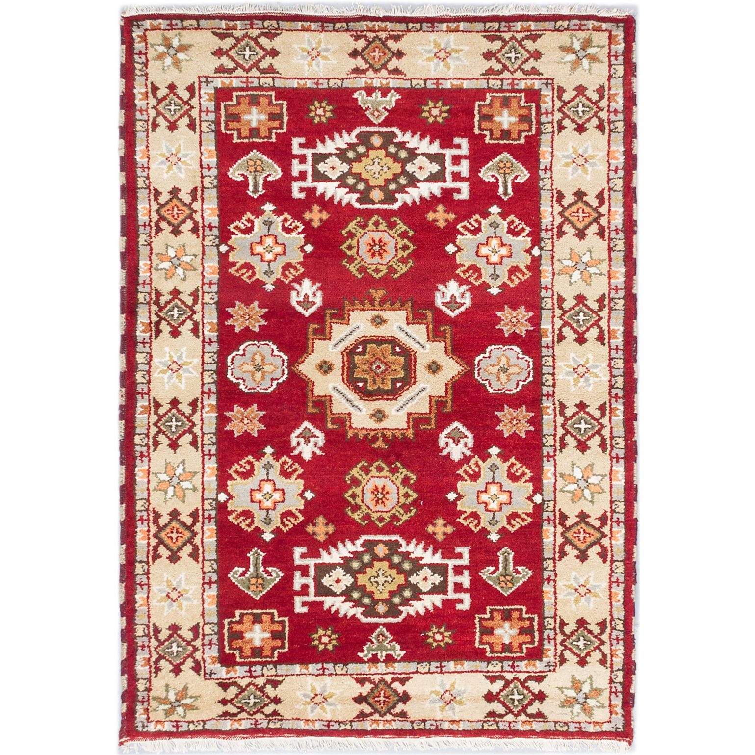 Accent your home with this stylish Indian rug, featuring ...