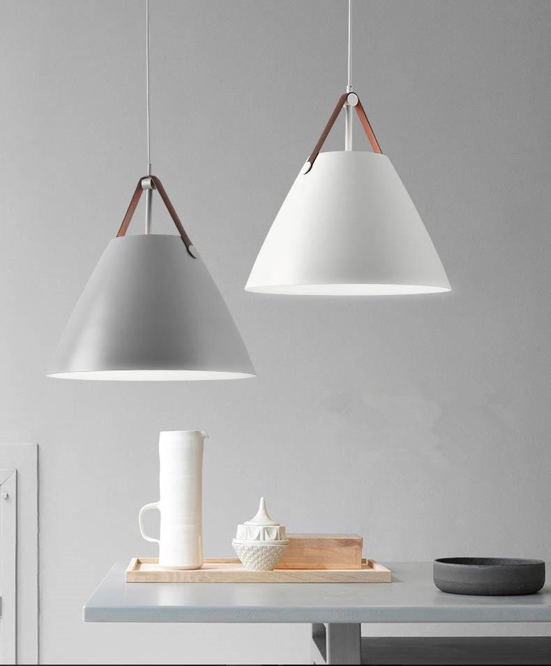 Modern Chandelier Cone Led White Pendant Lamp Kitchen Dining Room