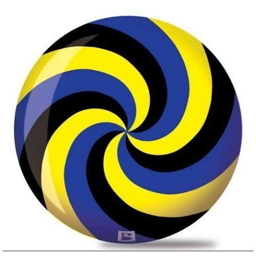 Brunswick Spiral Viz A Ball Bowling Ball Black Blue Yellow Bowling Bowling Ball Bowling Balls