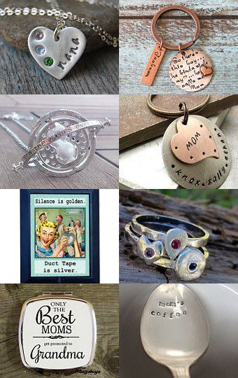Mother's Day in Silver by Gabbie on Etsy #etsy #treasury #mothersday #silver #gifts