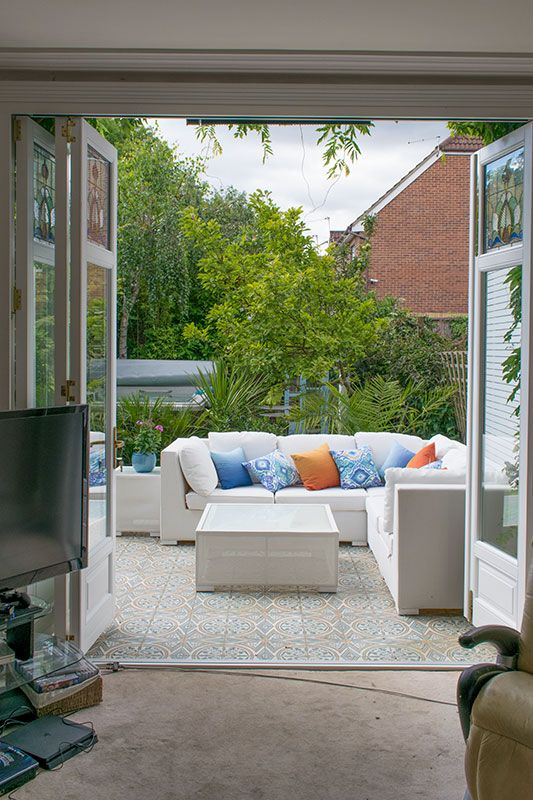 Timber bifold doors with stained glass windows in Finchley North London & Timber bifold doors with stained glass windows in Finchley North ... pezcame.com