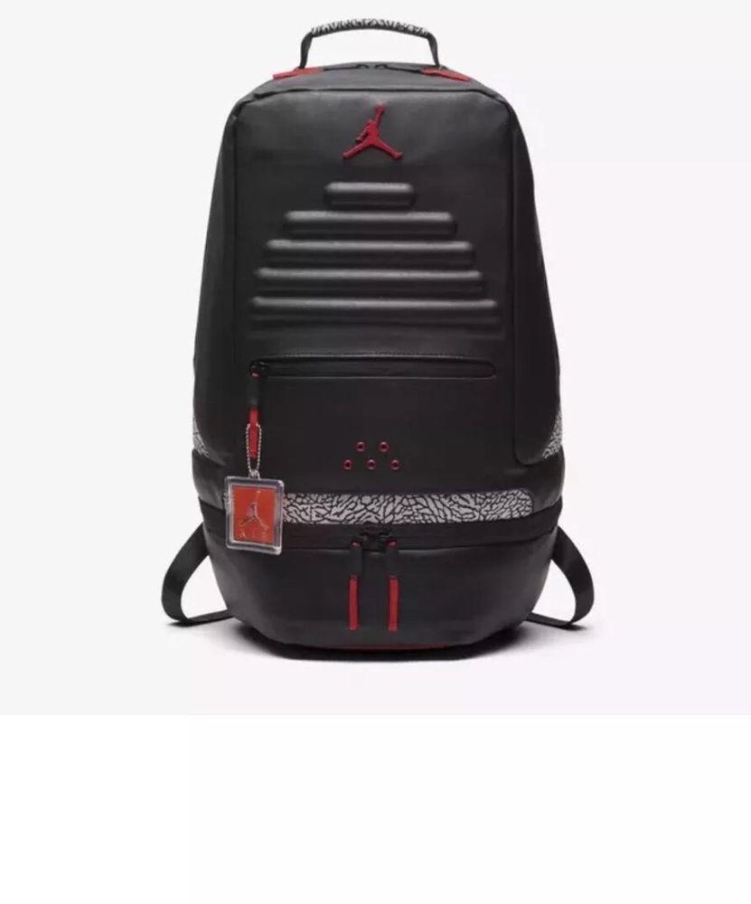 a529cf8c6a Nike Air Jordan Retro 3 III Black Cement Grey Backpack Gray Red 88 9A0018  KR5  Nike  Backpack