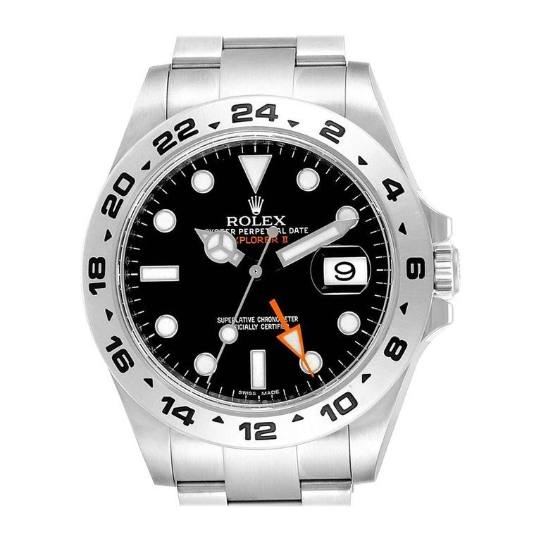 Rolex Explorer II 42 Black Dial Orange Hand Men's Watch 216570 #rolexexplorer