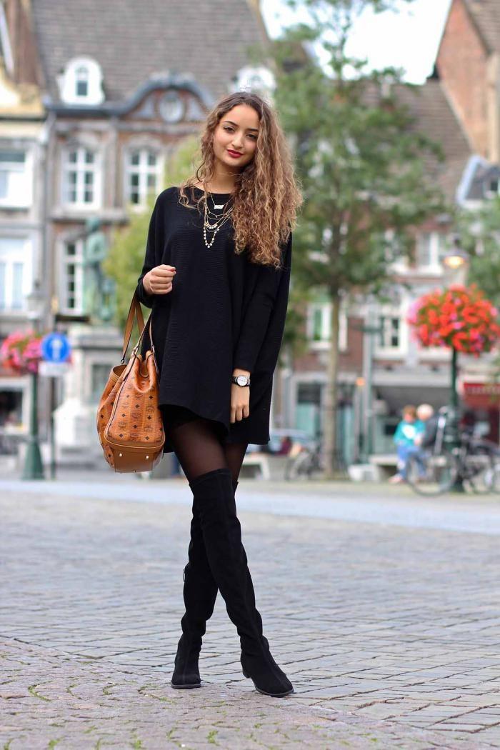 считают, черное платье с сапогами фото наступает долгожданный