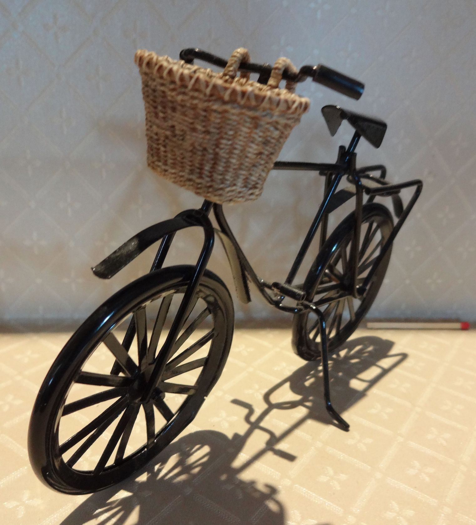 Miniature Dollhouse FAIRY GARDEN ~ Mini Metal GATHERED Flower Bicycle Bike