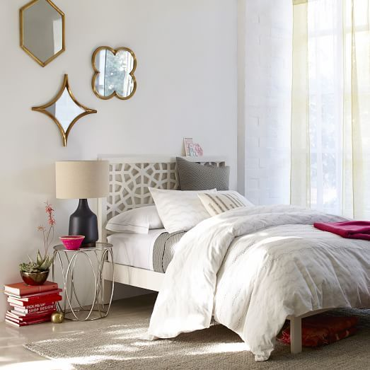Morocco Bed White White Headboard Bed Frame And Headboard