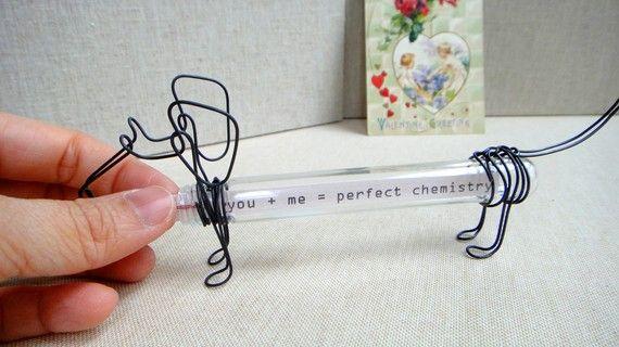 Message in a Doxie - Modern Dachshund Love Note Valentine