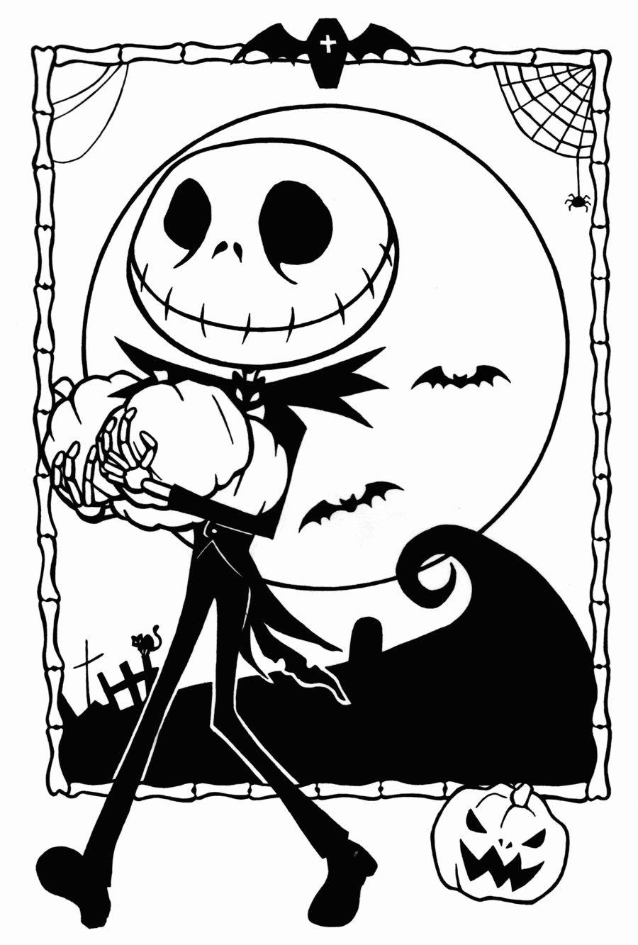 Jack Skellington Coloring Page Unique Free Printable Nightmare