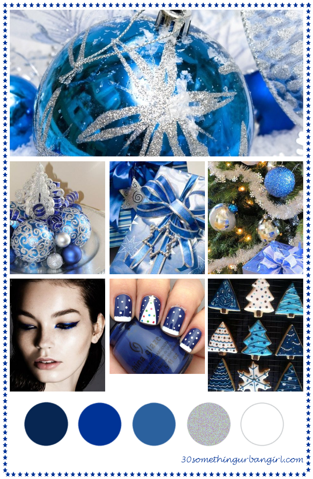 Pretty Blue Christmas Color Palette For Decoration And Beauty