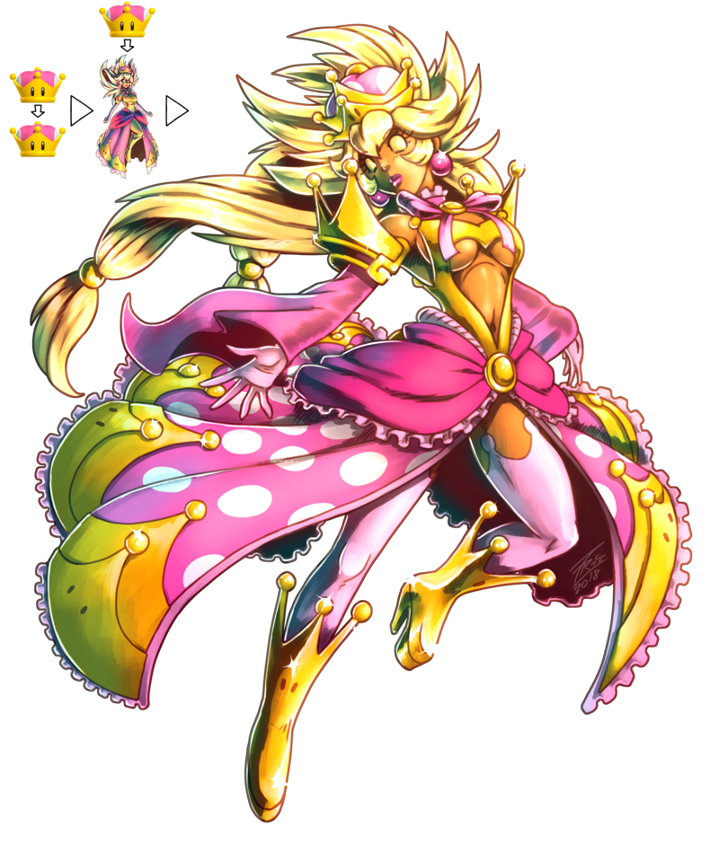 Queen Crownette By Fontesmakua Peachette Super Crown Mario Art Mario Cosplay Nintendo Fan Art