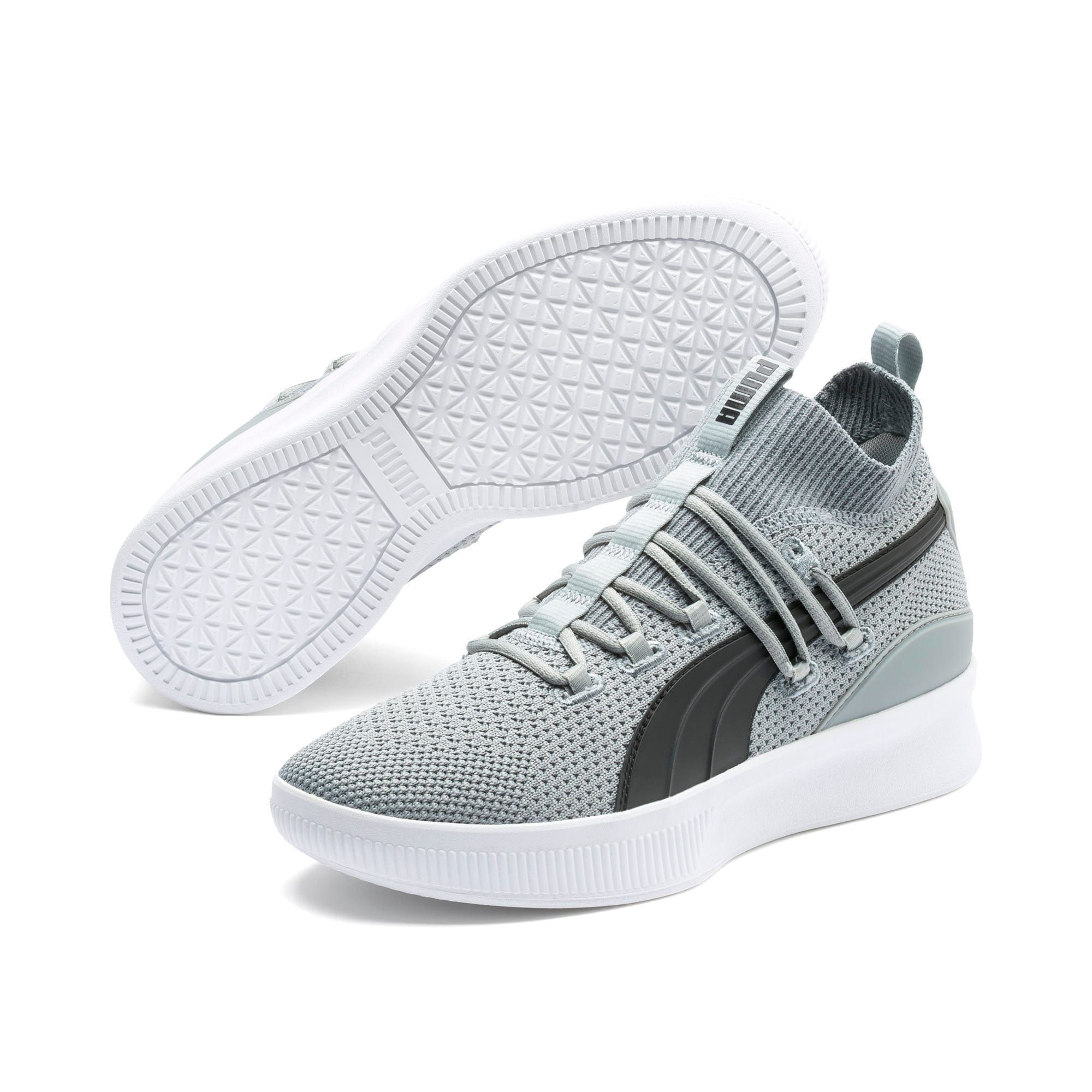 Men's PUMA Clyde Court Basketball Shoe Sneakers in Quarry