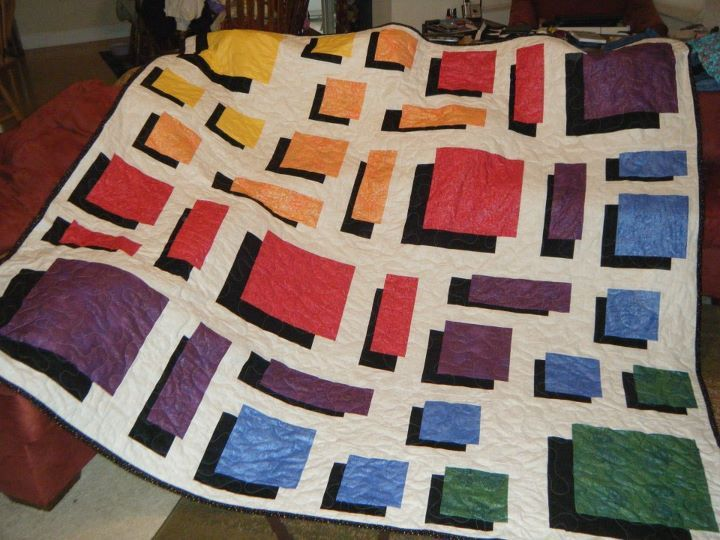 Pin By Inez Swapp Hulsey On Quilting Colorful Quilts Optical Illusion Quilts Crumb Quilt