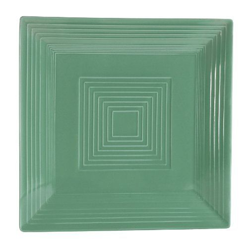 CAC China TG-SQ16G Tango Green Porcelain Square Plate, 10-Inch, Box ...
