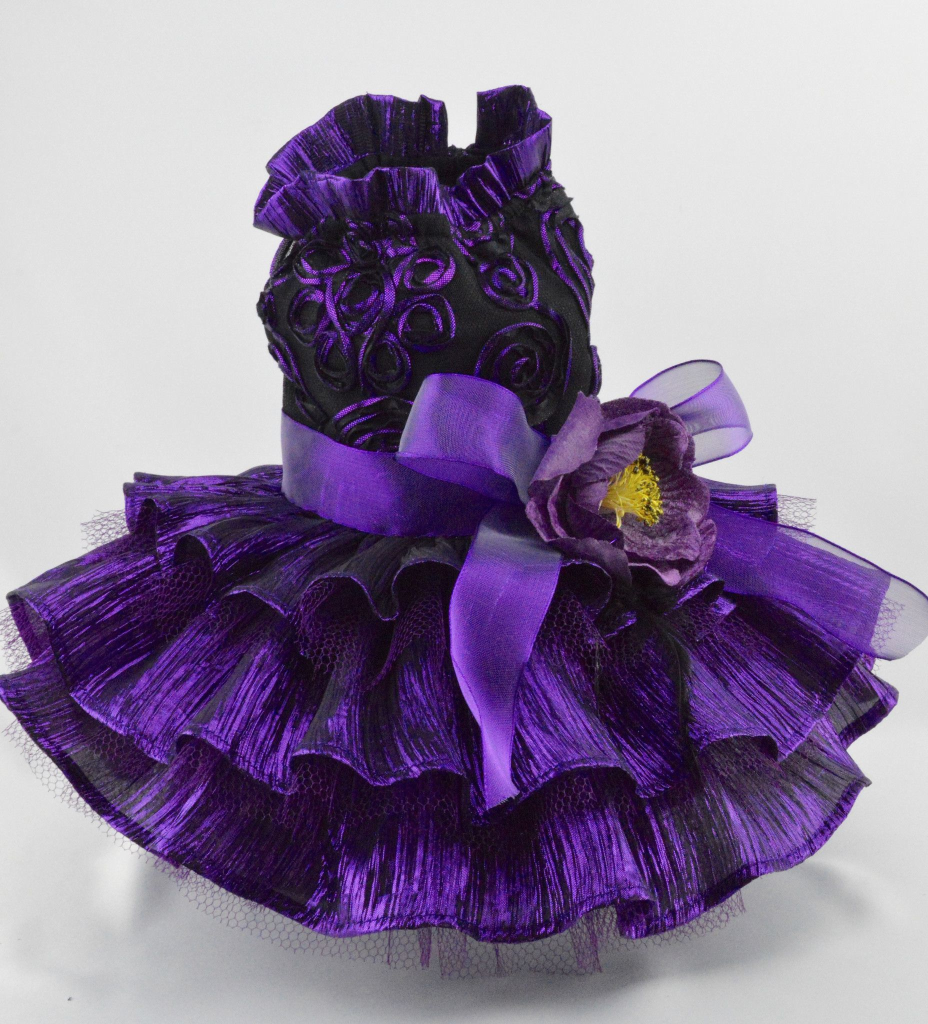 Purple Ribbon Lace and Reffled Skirt Dog Dress | Pet Products ...