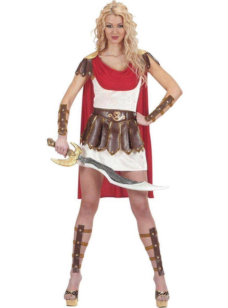 9df6f7a070df7 Disfraz de valiente guerrera romana para mujer