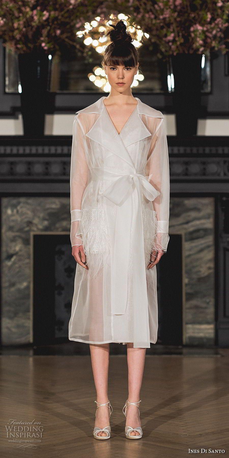 Simple modern wedding dress  Ines Di Santo Spring  Wedding Dresses u ucModern Romanceud Bridal